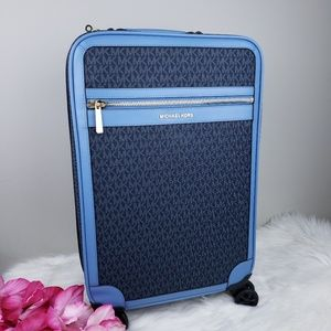 🌺NWT Michael Kors travel trolley blue luggage bag